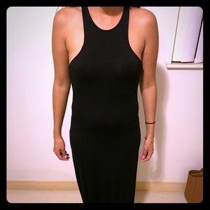 Women's full black dress